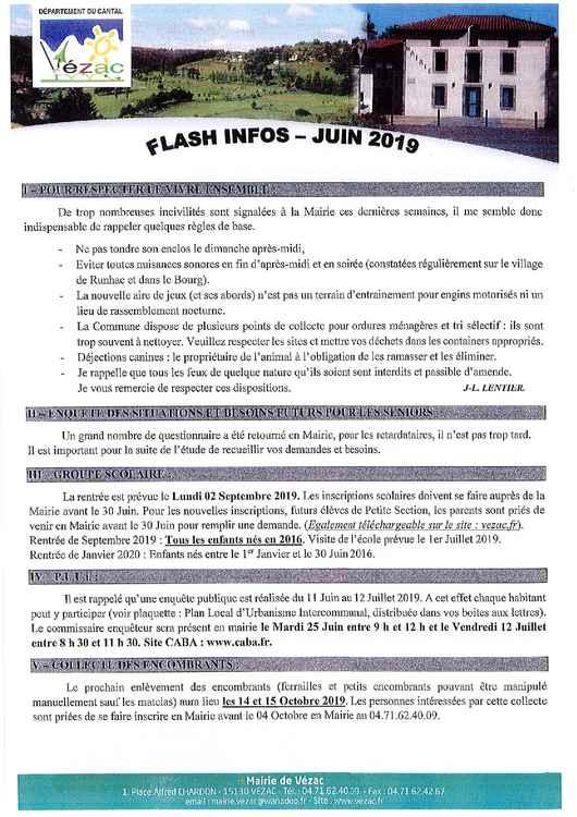 flash info juin 2019